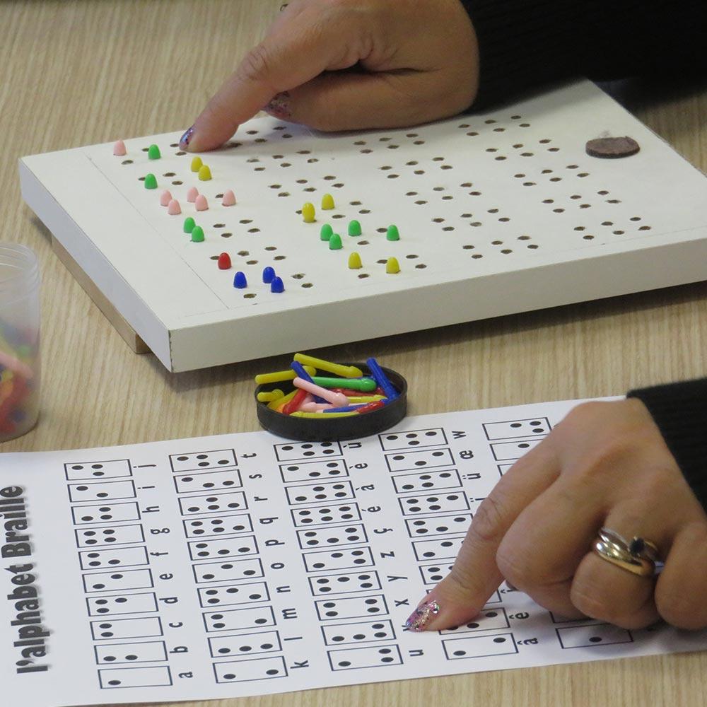 Atelier « Écrire et lire en Braille »